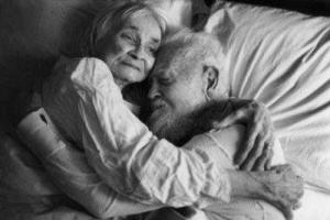 old couple sleeping