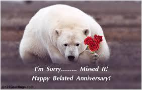 belated anniversary